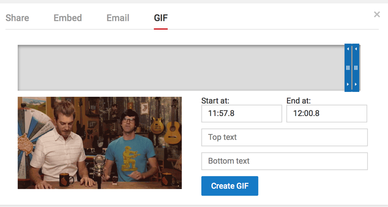 Illustration for article titled TIL YouTube has a GIF maker