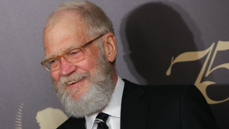 Letterman at this year's Peabody Awards ceremony. (Photo: Getty Images)