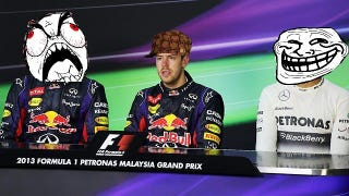 Illustration for article titled Webber's dad criticizes the punk kid on the team that overtook his boy for the win in Malaysia