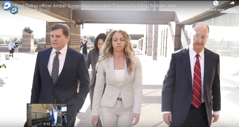 Amber Guyger with her attorneys
