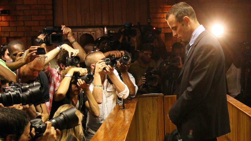 Illustration for article titled Oscar Pistorius Convicted of Murder, Faces 15 Years as Lesser Conviction Is Overturned