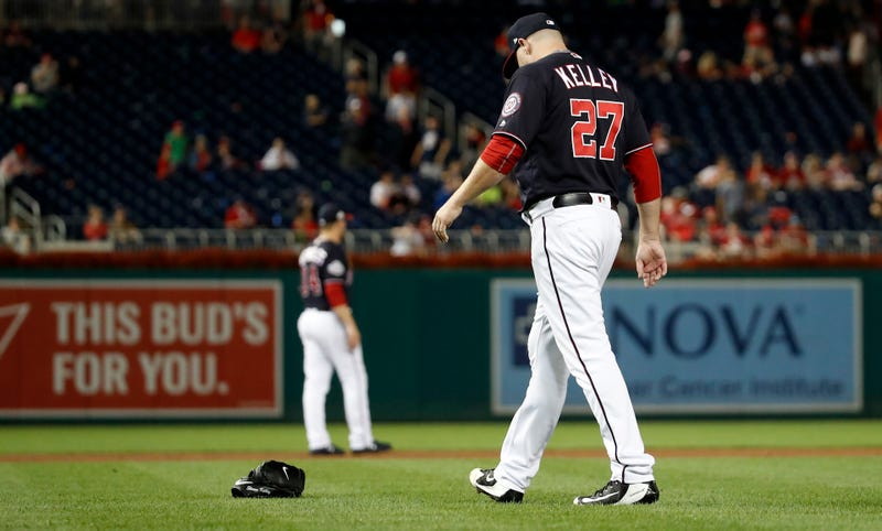 Illustration for article titled Shawn Kelley's Glove-Throwing Meltdown Will Cost Him His Spot On The Nationals