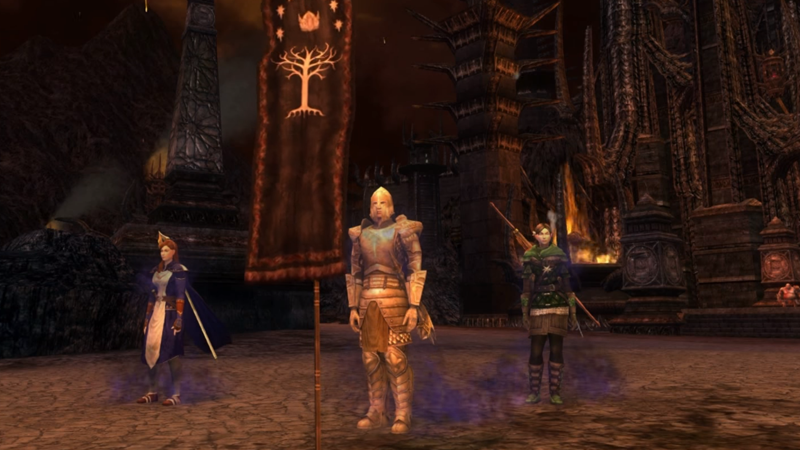 The other, currently-still-active Lord of the Rings MMO, Lord of the Rings Online.