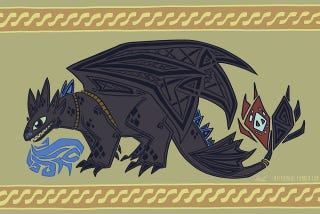 Illustration for article titled Here's How How to Train Your Dragon Would Be Immortalized in Tapestry