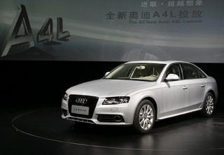 Illustration for article titled Extra-Long Wheelbase Audi A4L Revealed In China