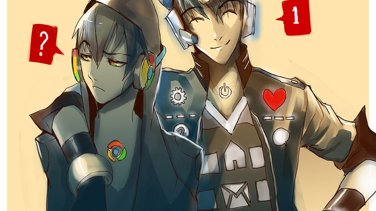 popular websites drawn as anime characters because um internet