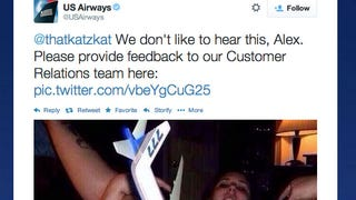 Illustration for article titled US Airways Tweets Out Photo Of Model Airplane In Woman's Vagina [NSFW]