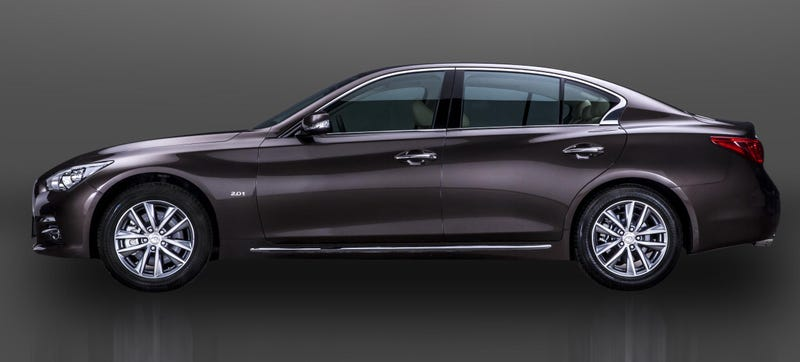 Illustration for article titled The First Chinese-Built Infiniti Is A Longer Q50