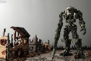 Illustration for article titled World War II-Themed Titanfall Lego Diorama