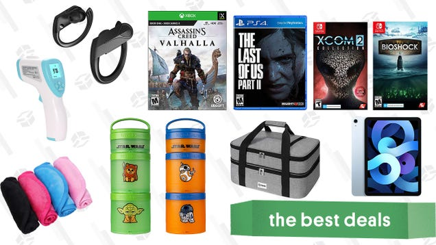 Thursday s Best Deals: iPad Air, Mpow Flame Earbuds, Infrared Thermometer, Stackable Character Snack Packs, BioShock: The Collection, Xcom 2, Reusable Makeup Removers, The Last of Us Part II and More