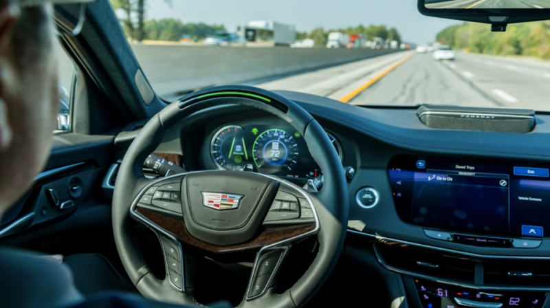 Super Cruise in use on the Cadillac CT6