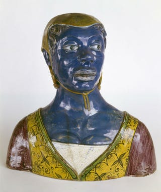 Anonymous, Italy, Bust of black woman, 16th century(?)Faience, Ecouen, Musée de la Renaissance.