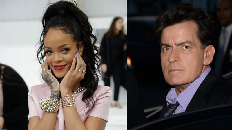 Illustration for article titled Charlie Sheen Got Dissed by Rihanna, Called Her the 'Village Idiot'