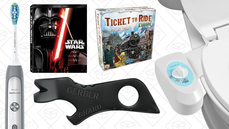Illustration for article titled Today's Best Deals: Board Games, Star Wars, $18 Bidet, and More
