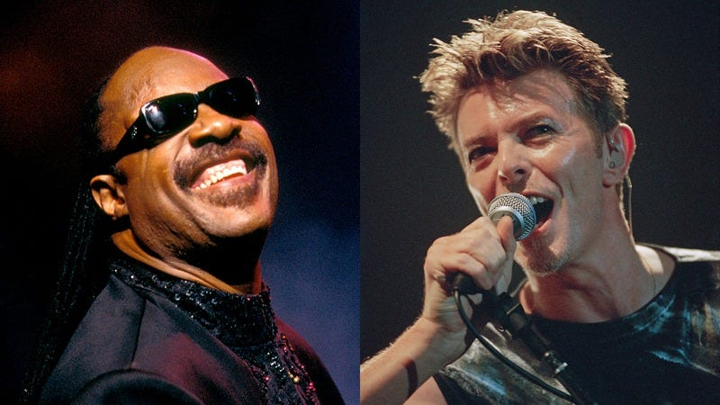 Stevie Wonder and David Bowie
