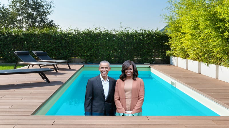 Artistu0027s Rendition Of The Former First Couple Having A Blast In Their New  Pool. Photo: Getty (/Shutterstock)