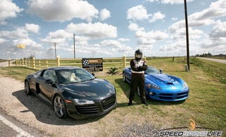 Illustration for article titled SSL Pits The R8 Against The Viper On The Track