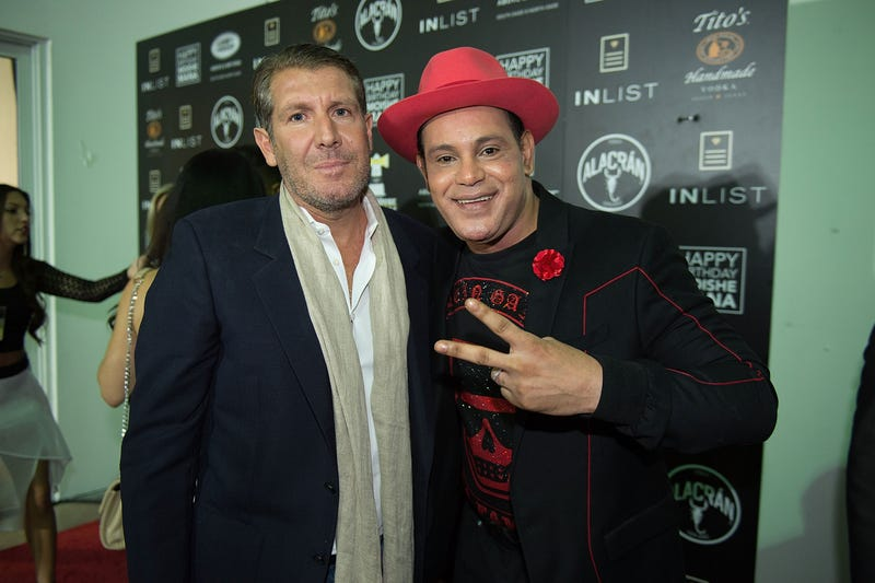 Michael Capponi and Sammy Sosa attend the Inlist third-anniversary party during Art Basel Miami Beach 2017 on Dec. 6, 2017, in Miami.