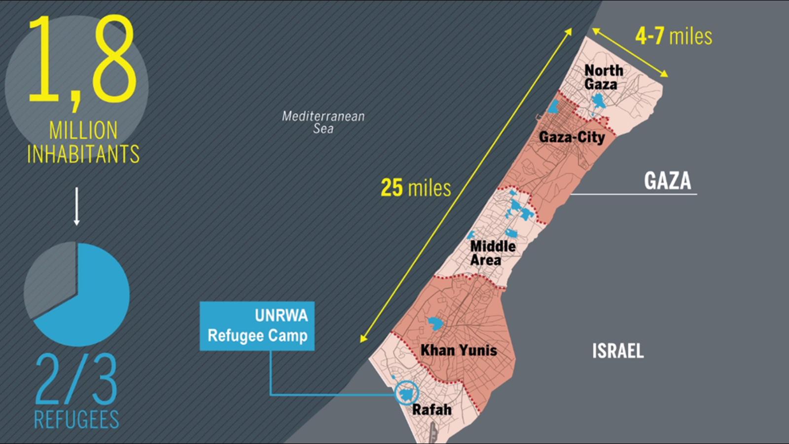 El mejor mapa animado para entender la situación actual de Gaza
