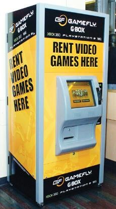 Illustration for article titled GameFly Introduces Rental Kiosks, Causes Devastating Yellow Paint Shortage