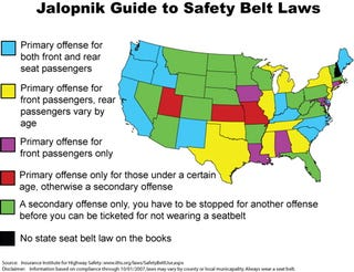 Rules Of The Road Safety Belt Laws