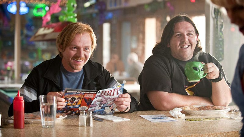 Simon Pegg and Nick Frost, seen here in Paul, will be hunting ghosts on Amazon.
