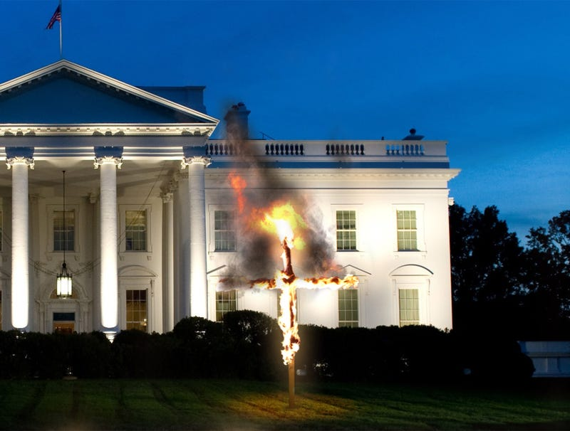 Illustration for article titled White House Begins Christmas Season With Ceremonial Lighting Of Cross