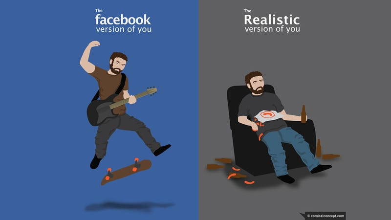 Illustration for article titled Facebook You Versus Actual You
