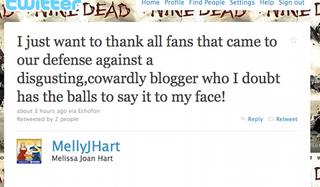 Illustration for article titled Melissa Joan Hart Denounces Cowards, Kanye Drinks Juice