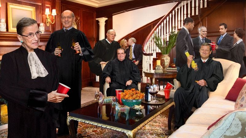 Justice Ginsburg Throws Party While 120 Year Old Parents