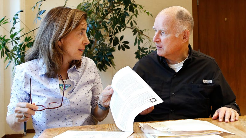 Governor Jerry Brown and wife Anne Gust Brown.