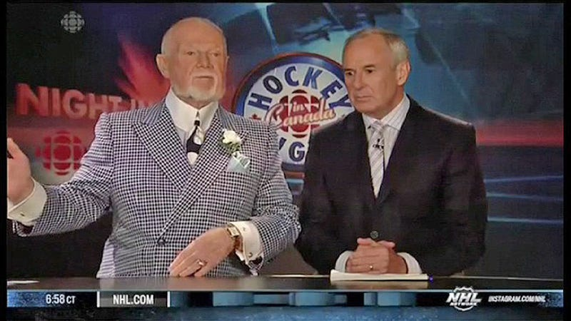 """Illustration for article titled Don Cherry Tries, And Fails, To Pronounce The Name """"Jacoby Ellsbury"""""""
