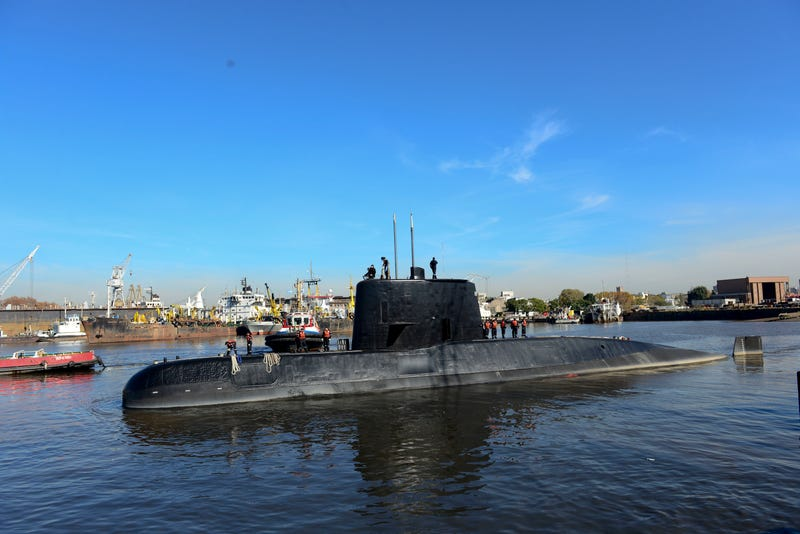 El submarino San Juan. AP