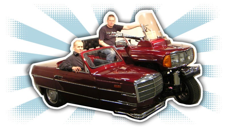 Illustration for article titled This Mercedes-Benz 240D Motorcycle And Sidecar Is Bewilderingly Wonderful