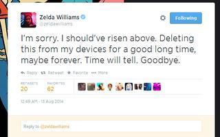 Illustration for article titled Zelda Williams Leaves Twitter