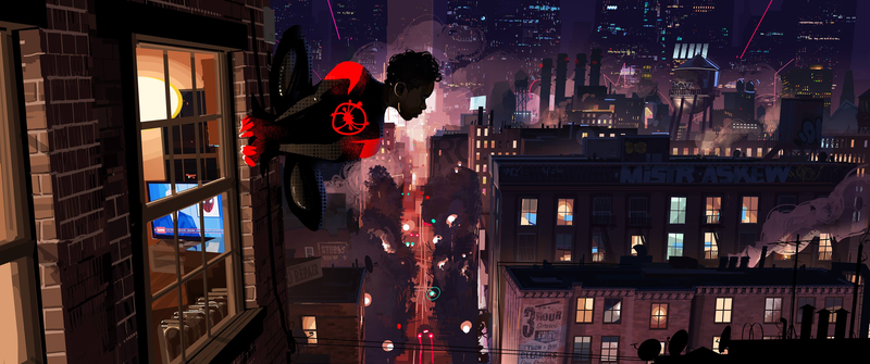 The Ultimate Spider-Man safeguards his city.
