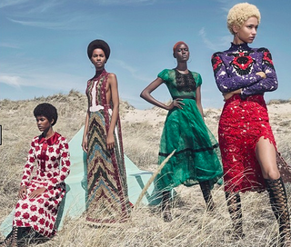 Spreadin W magazine's August 2015 issue featuring only black modelsW magazine