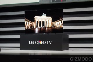 Illustration for article titled LG's Got Seven Beautiful New 4K OLED TVs Including a 77-Inch Flexible TV