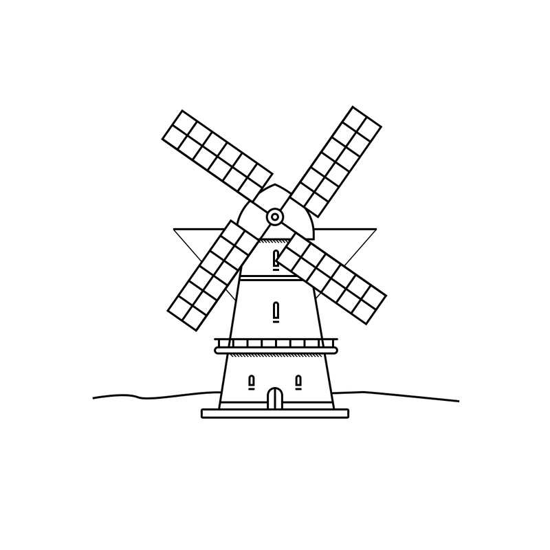 Illustration for article titled Dutch windmill