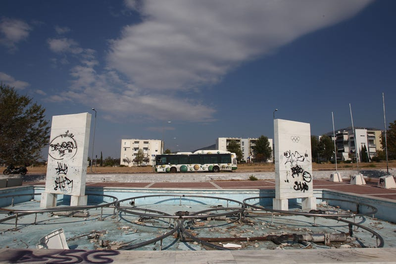 Pictured: The Olympic Village constructed for the 2004 Summer Games in Athens, Greece. Photo credit: AP