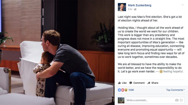 Photo: Facebook/Mark Zuckerberg