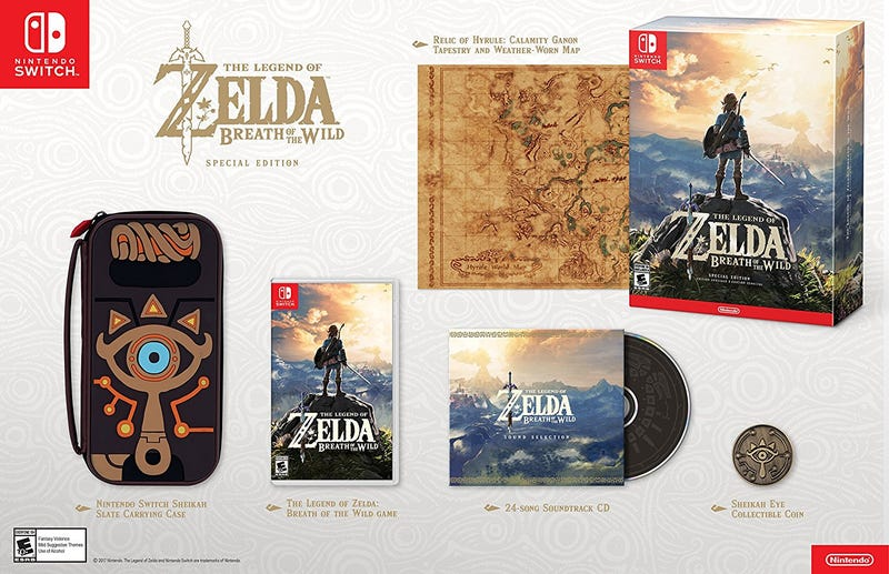 The Legend of Zelda: Breath of the Wild Special Edition, $100