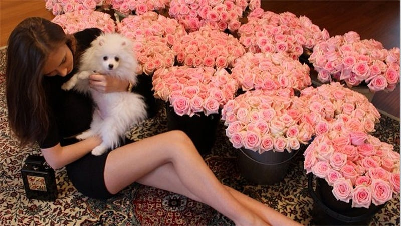 Illustration for article titled 'Russian Women With Shitloads of Flowers' Is the Best Instagram Trend