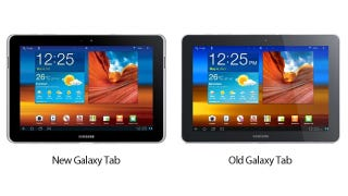 Illustration for article titled Samsung Just Changed the Galaxy Tab's Design Because of the iPad (OMG SOO DIFFERENT)