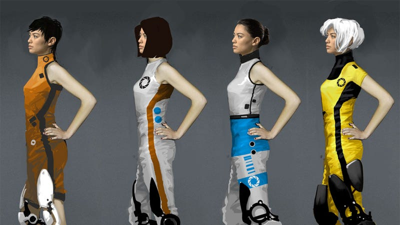 Illustration for article titled Portal 2's Starlet Certainly Looks Different In This Concept Art