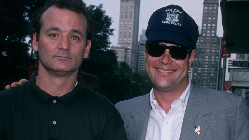 Murray and Aykroyd at a party for Ghostbusters II back in 1989.