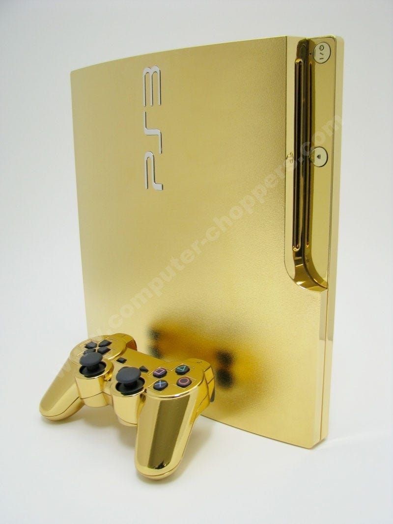 Illustration for article titled Excuse Me, My Lord, Your Golden PS3 Is Ready