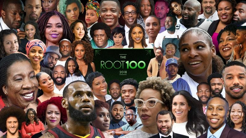 Illustration for article titled The Root Announces Talent and Honorees for The 2018 Root 100 Gala