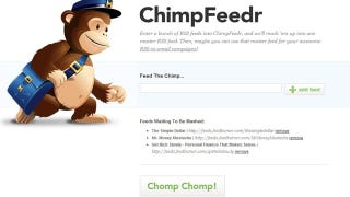 Illustration for article titled ChimpFeedr Mashes Up Various Feeds into a Single, Master RSS Feed