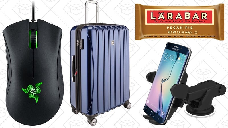 Illustration for article titled Today's Best Deals: Computing Gear, Luggage, Back-to-School Snacks, and More